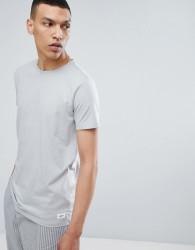 Lindbergh Mouline Crew Neck T-Shirt in Grey - Grey
