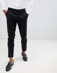 Lindbergh Neppy Smart Trousers In Black - Navy