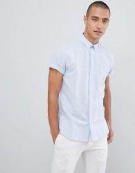 Lindbergh Short Sleeve Shirt In Blue - Blue