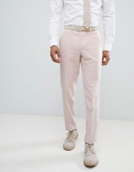 Lindbergh Slim Fit Wedding Suit Trousers In Light Pink - Pink