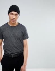 Lindbergh Stretch Crew Neck T-Shirt in Black - Black