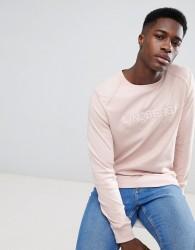 Lindbergh Sweatshirt In Light Pink With Logo - Pink