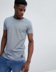 Lindbergh T-Shirt In Blue Fine Stripe - Navy