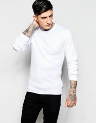 Lindbergh T-Shirt with Long Sleeves - White