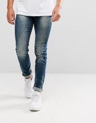 Lindbergh Tapered 5 Pocket Stretch Jean in Blue - Blue