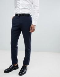 Lindbergh Wedding Slim Suit Trousers In Navy - Blue