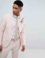 Lindbergh Wedding Suit Jacket In Light Pink - Pink