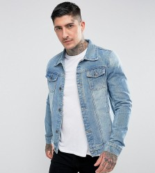 Liquor N Poker Denim Jacket Classic Trucker Stonewash - Blue