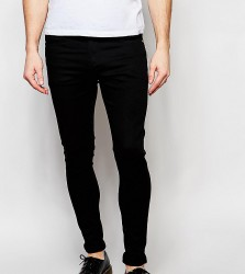 Liquor N Poker Jeans Stretch Super Skinny Black - Black