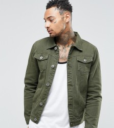 Liquor N Poker Khaki Denim Jacket - Green