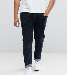 Liquor N Poker PLUS Grey Acid Wash Skinny Jeans - Grey