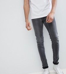 Liquor N Poker TALL Grey Bleached Skinny Jeans - Grey