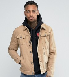 Liquor N Poker Tan Denim Jacket - Brown