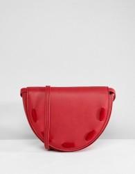 Liquorish Crescent Across Body Bag - Red