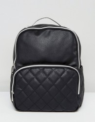 Liquorish Quilted Pocket Backpack - Black