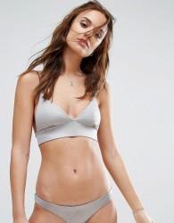 Lira Bralette Bikini Top - Silver