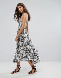 Lira Floral Midi Beach Dress - Multi