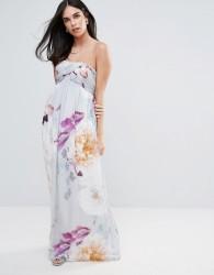 Little Misress Bandeau Maxi Dress In Floral Print - Multi