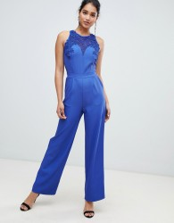 Little Mistess Tailored Jumpsuit With Belt - Blue