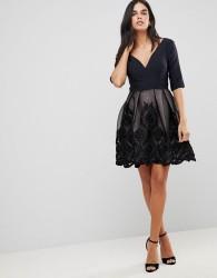Little Mistress Applique Mini Dress - Black