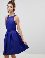 Little Mistress Applique Prom Dress - Blue