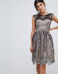 Little Mistress Embroidery Prom Dress - Black
