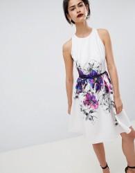 Little Mistress Floral Placement Print Prom Dress - Multi