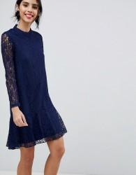 Little Mistress lace midi dress - Navy