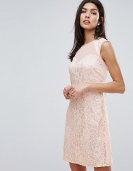 Little Mistress Lace Shift Dress - Pink