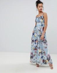 Little Mistress Maxi Dress In Floral Print - Multi