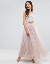 Little Mistress Maxi Tulle Prom Skirt - Pink