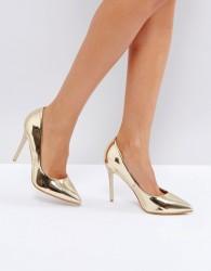 Little Mistress Point High Heels - Gold