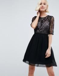 Little Mistress Sequin Prom Dress - Black