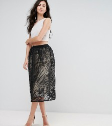 Little Mistress Tall Full Lace Midi Skirt - Multi