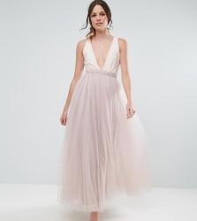 Little Mistress Tall Maxi Tulle Prom Skirt - Pink