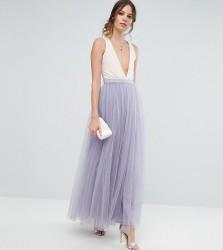 Little Mistress Tall Maxi Tulle Prom Skirt - Purple