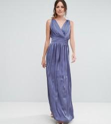 Little Mistress Tall Wrap Front Strappy Maxi Dress - Purple