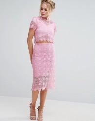 Little White Lies Crochet Tom Skirt - Pink