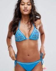 Little White Lies Embroidered Bikini Top - Blue