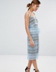 Little White Lies Howie Lace Peplum Dress - Blue