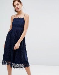 Little White Lies Rhett Lace Dress - Navy