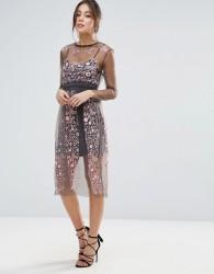 Little White Lies Stargazer Embroidered Dress - Pink
