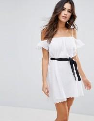 Little White Lies Veronique Cold Shoulder Dress - White