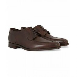 Loake 1880 Avon Derby Split Toe Dark Brown Calf