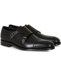 Loake 1880 Cannon Monkstrap Black Calf men UK8 - EU42 Sort