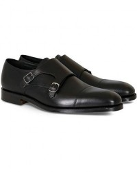 Loake 1880 Cannon Monkstrap Black Calf men UK9,5 - EU43,5 Sort