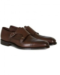 Loake 1880 Cannon Monkstrap Dark Brown Burnished Calf men UK10 - EU44 Brun