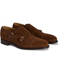 Loake 1880 Cannon Monkstrap Polo Suede men UK9 - EU43 Brun