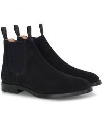 Loake 1880 Chatsworth Chelsea Boot Black Suede men UK7,5 - EU41,5 Sort