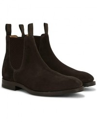 Loake 1880 Chatsworth Chelsea Boot Dark Brown Suede men UK10 - EU44 Brun
